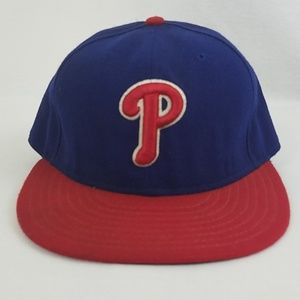 New Era Phillies 7 1/8 Baseball Hat Fitted